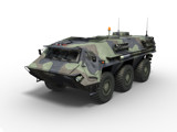 AFC11CT Army Vehicle render on white
