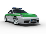 AFC11CT Police car render on white