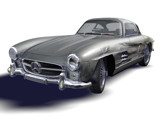 Mercedes 300SL damage sketch