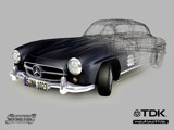 Mercedes Gullwing render wallpaper
