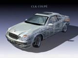 Mercedes CLK render wallpaper